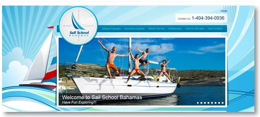 Atlanta Web Design: Sail School Bahamas